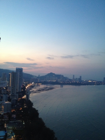 view: Sunset in Penang