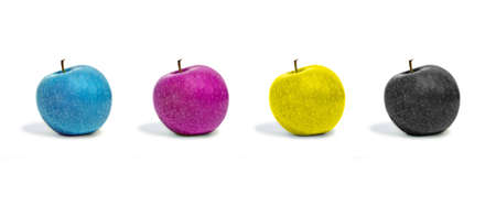 apples in cmyk color