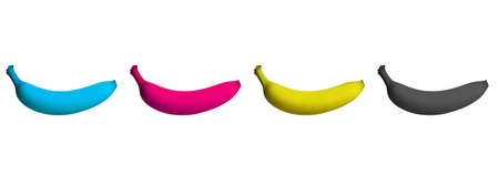 banana in cmyk color