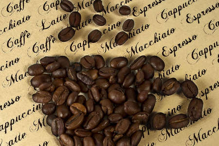 caf: cup of coffee with text Stock Photo