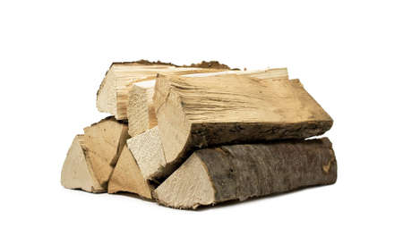 fireplace lighter: stack of firewood for the stove
