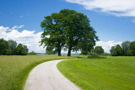 Beierse landschap met afstand op een dag mooi weer