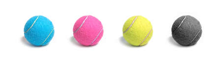 cmyk tennis ball Stock Photo