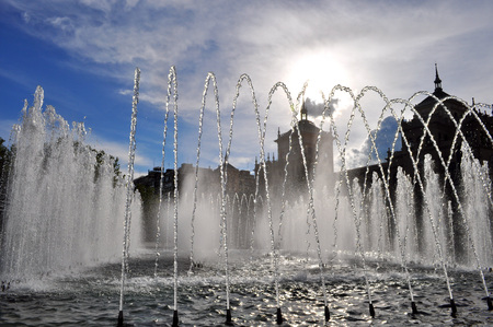 Source Plaza de Valladolid, Spain Stock Photo