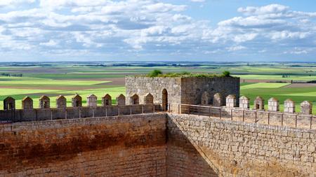 Views from the castle of Montealegre de Campos, Valladolid, Spain