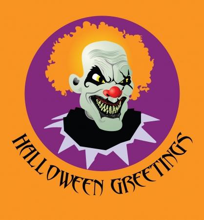 Halloween rubber mask: Psycho-Clown Vector