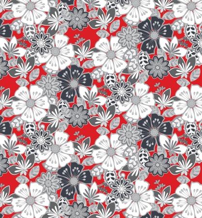 bloemenprint geschikt voor informele weefsel patroon Stock Illustratie