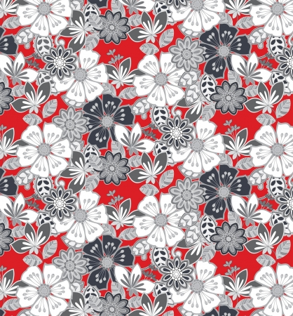 informal: floral print suitable for informal fabric pattern Illustration