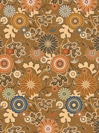 interpretation: vector interpretation of traditional Japanese kimono pattern