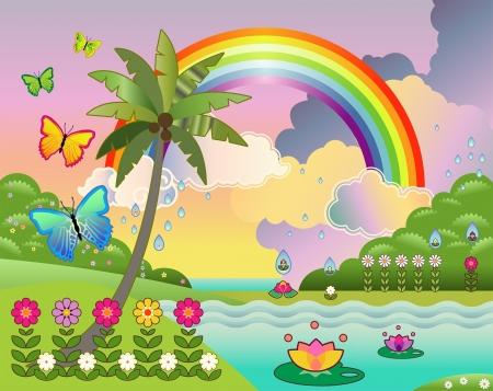 fantasy island stijl landschap!