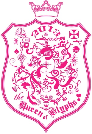 abeja reina: diseño gráfico para T-shirt Reina de glifos