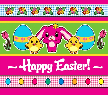 Easter Greeting poster or card Illustration