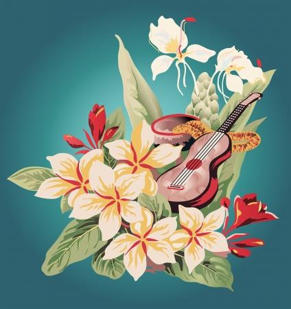 húros: motívumok régimódi Aloha shirt