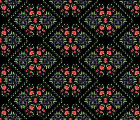 naadloze achtergrond patroon met florale elementen van Perzische traditionele kunst Stock Illustratie