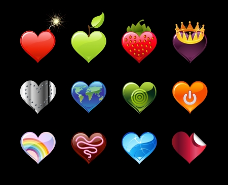 Heart Icons Stock Vector - 21648703