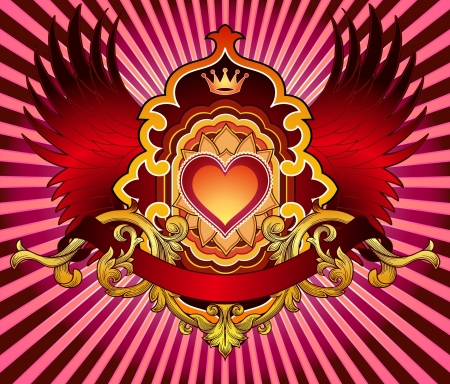 Heart Emblem Stock Vector - 21648705