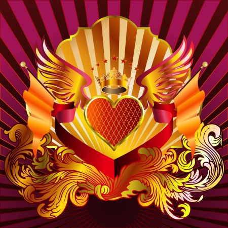 Heart Emblem 02 Stock Illustratie