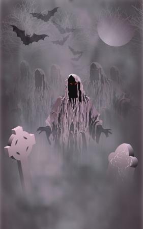 Halloween illustratie - met zombies