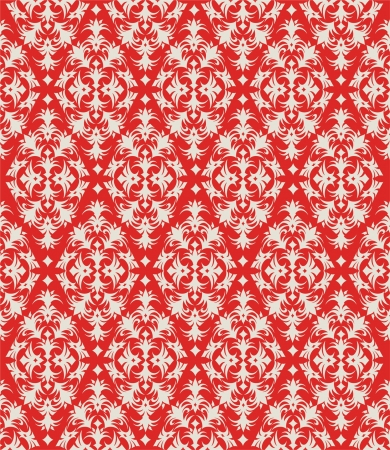 Seamless pattern in Christmas Holiday colors red and white