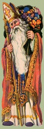 Sinterklaas Patroonheilige van Kerstmis Stock Illustratie