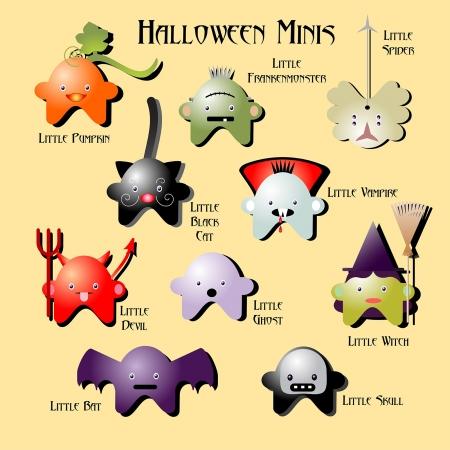 Mini Monsters voor Halloween