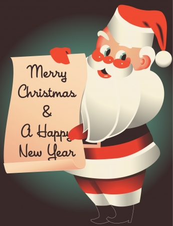 Mid-Century Kerstman wenst u een vrolijk kerstfeest