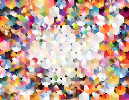 abstract background using two layers of hexagonal grids and blending modes to achieve a colorful  confetti-like   effect