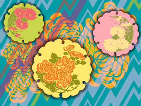 style: original design using vintage Japanese elements