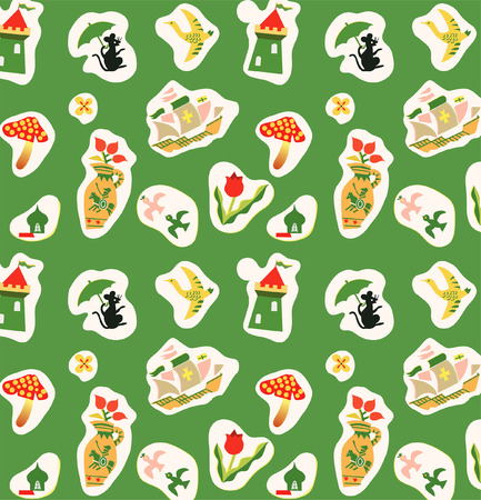 Childrens wallpaper pattern