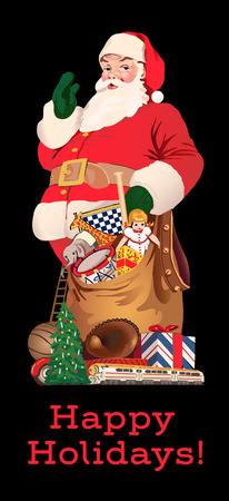 Kerstman met zijn zak van giften