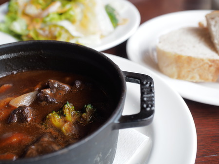 western food: Beef stew Stock Photo