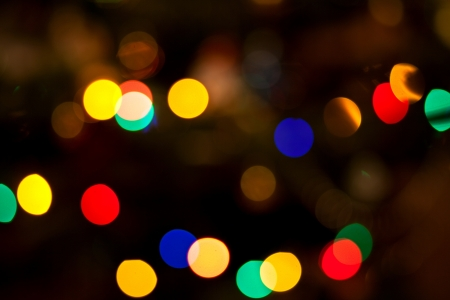 Abstract circular bokeh of christmas lights for background