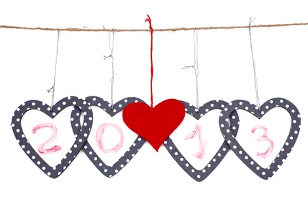 hearts with the date islated over white background Stock Photo - 17596571