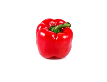 fresh red pepper isolated over white background