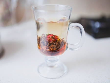 a glass of herbal tea photo