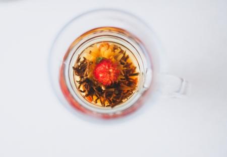 a glass of herbal tea
