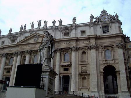 italien: Saint Peters Square in Vatican (Rom, Italien)