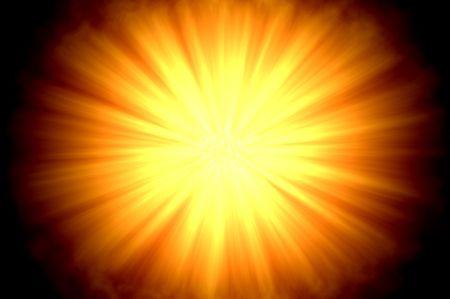 centered: Centered sun flare or fireball on dark background