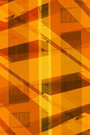 オレンジ色の建物を抽象化します。