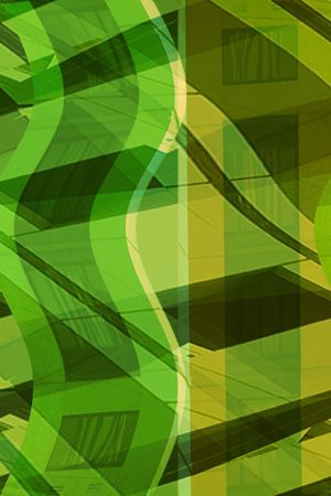 Abstract building in green photo