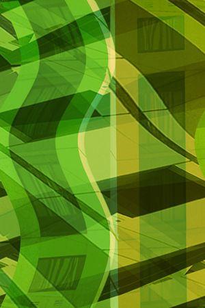 Abstract building in green Zdjęcie Seryjne