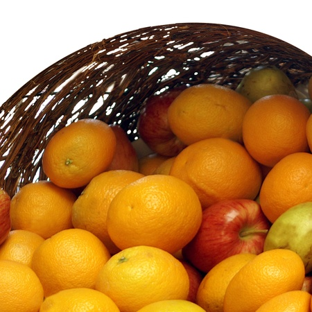 Oranges and Apples in Basket Stock Photo - 8752829