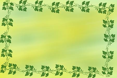 bordure vigne: Border vigne vert sur jaune et vert