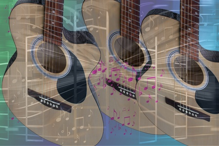 Guitar and Music Abstract Stock Photo - 12029623