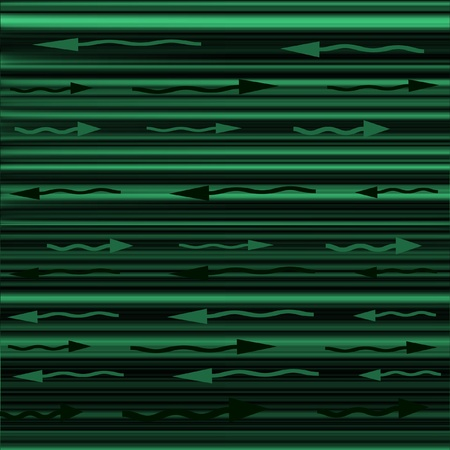 Green and black straight lines with green and black curved arrows pointing left or right Stock Photo - 13073738