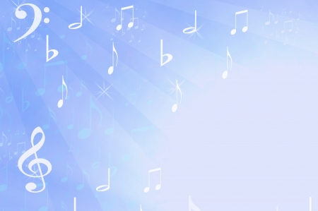 Musical background in blues and white photo