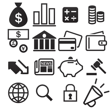 bank transfer: Finance Icon Illustration
