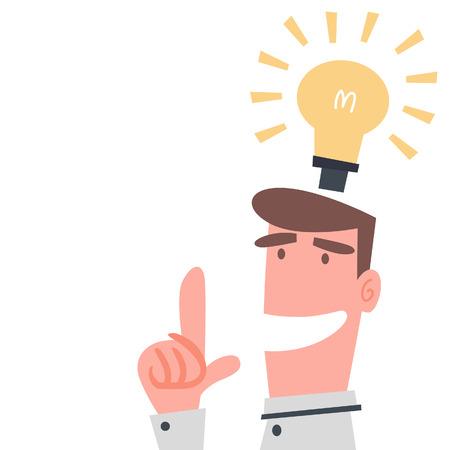 アイデアを持ったビジネスマン  イラスト・ベクター素材