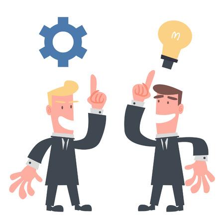 Businessman Showing Idea  Çizim