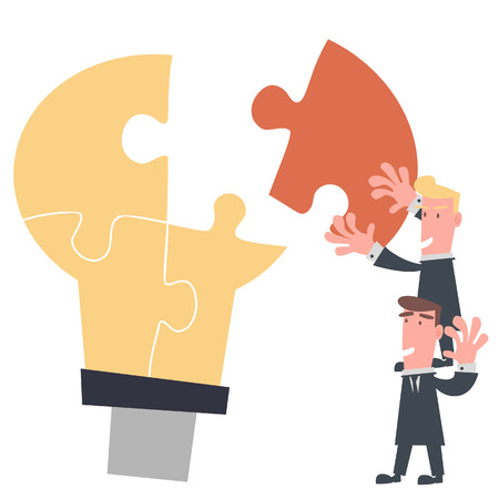 Business Team Complete Idea Puzzle